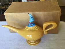 Walt Disney Aladdin Genie Lamp Gold Tea Pot with Original Box RARE MEXICO