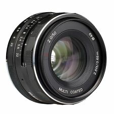 Hot 50mm Meike F2.0 Focus lens For Sony NEX 3/ 3N/ 5/ 5T/ 5R/ 6/ 7 A6000 A5000
