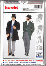 Men's 1848 Dickens Jacket, Vest, Pants Costume Pattern 34-50 Burda 2767