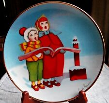 Christmas Carolers~By Pamela Paperone~Christmas Seal of 1932 Plate~COA~1992
