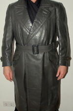 Men's Genuine Post WW2 German Officer Leather Jacket Coat 50 / UK 40 / Med-Large