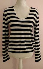 American Vintage womens black and ivory 100% cashmere jumper size M