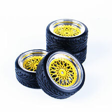 4 Pcs Drift Tires Tyre Wheel Mounted For HSP HPI 1/10 Scale RC On-Road Car