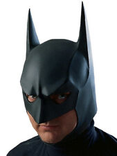 Adult Batman Latex Mask Outfit Fancy Dress Superhero The Dark Knight Rises Mens