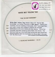 (GH250) White Belt Yellow Tag, You're Not Invincible - 2008 DJ CD