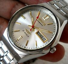 CITIZEN JAPAN AUTOMATIC WIND DAY DATE CLASSIC SILVER DIAL ST.STEEL MEN'S WATCH