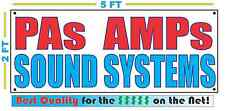 PAs AMPs SOUND SYSTEMS Banner Sign NEW Larger Size Best Quality for the $$$