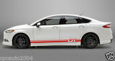 Car Vinyl Decal  Dual Racing Stripes Side Stickers  Body Decals for GT #1135