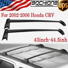 OE Style Aluminum Roof Rack Cross Bars Black For 2002-2006 Honda CRV - Pair