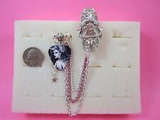 Two Finger Rings Chains & Charms & Guitar Pic Rings