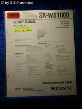 Sony Service Manual SA WS1000 Subwoofer System (#4632)