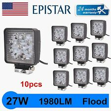 10X 27W LED Work Light Bar Flood Square 12V 24V Offroad Truck Boat SUV Light USA