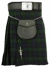 Handmade Scottish Mens Kilt Traditional Highland Dress Skirt, Kilt