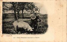CPA Deux Périgords trouvant la Truffe (233909)