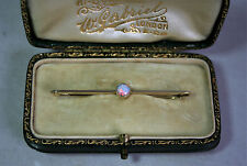 Exquisite Fine Antique Edwardian 15ct Gold Fiery Opal Set Bar Brooch c1900
