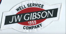 J W Gibson Well Service Company 1959 patch 4-3/4 X 9-3/4
