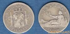 Espagne – 2 Pesetas 1870 Argnt qualité TB + – Spain