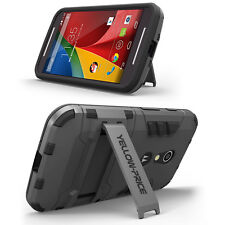 For Motorola Moto G2 Shockproof Dirtproof Armor TPU + PC Stand Case Stand Cover