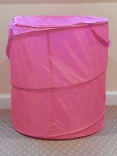 Foldable Pop Up Laundry Basket Hamper Washing Clothes Bin Storage Nylon Stong