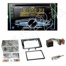 JVC KW-DB92BT Radio + Fiat Bravo (198) 2-DIN Blende schwarz + ISO-Adapter