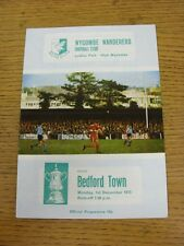 01/12/1975 Wycombe Wanderers v Bedford Town [FA Cup] (slight fold). This item ha
