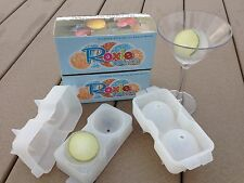 Roxie Rounds Silicone Ice Ball Molds (2-Pack) Makes 4 Large Jumbo Ice Spheres