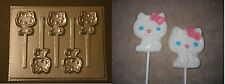 Hello Kitty Cat Lollipop Chocolate Candy Soap Crayon Mold