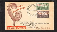 New Zealand Health Stamps 1946 Soldier Lg Canc Wellington 1d & 2d to Sydney Z91a
