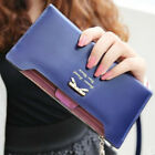 Great Women Lady Bow Leather Purse Card Money Zip Bag Long Wallet Fashion Gifts