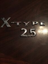 02 03 04 05 06 07 08 JAGUAR X-TYPE 2.5 REAR EMBLEM LOGO BADGE SIGN SYMBOL (03)