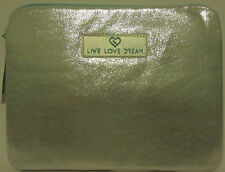 NEW! LIVE LOVE DREAM Silver Metallic Ipad Tablet Case Ebook Case Sleeve Teal
