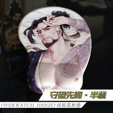 Game Overwatch OW Hanzo Silicone Breast 3D Mouse Pad Game Mat Playmat Wrist Rest