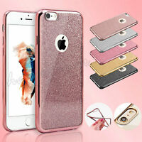 New Bling Silicone Glitter ShockProof Case Cover For Apple iPhone 6 6S Plus 5 5S