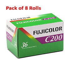 8 Rolls Fuji Fujicolor C200 35mm Film CA 135-36 Fujifilm Color Print 08/2018