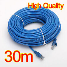 Popular 100FT 30M CAT5 RJ45 Ethernet LAN Internet Network UTP Cable Wire ON