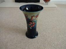 Antique Moorcroft Fluted / Flared / Trumpet Vase - 'Spring Flowers'