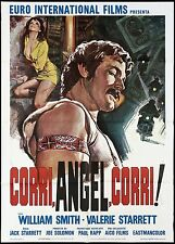 CORRI ANGEL CORRI! MANIFESTO FILM EXPLO 1969 ON THE ROAD RUN ANGEL RUN POSTER 2F