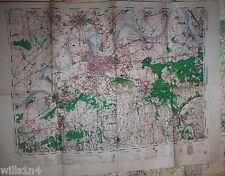 WWII Army Map US 29th Division 82nd Combat Eng. Dusseldorf Germany 1944