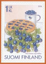 Finland 2006 MNH - Wild Berries - Blueberry Pie - Issued August 24, 2006