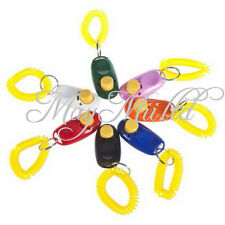 Puppy Dog Pet Click Clicker Training Trainer Aid Wrist Strap