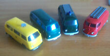 Wiking vintage early 4 VW vans busses police fire post