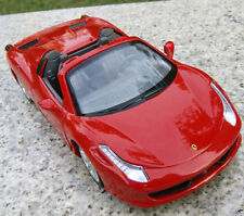 1:32 Red Alloy Diecast Car Model Ferrari F458 Convertible w/light&sound Toy Gift