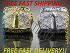 Fantasy Football Championship Ring Trophy Silver Gold - USA Seller