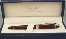 Conklin Victory Ruby Red & Chrome Fountain Pen - Stub Nib - New
