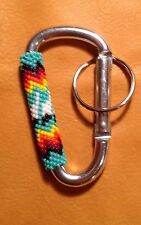 Native American Lakota Beaded Clip Keychain