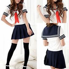 Sexy Japanese High School Girl Sailor Uniform Cosplay Costume dress fancy Cute