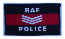RAF Police Sgt , Royal Air Force  embroidered cloth patch. Iron or sew on patch