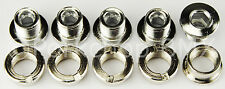 Chromoly CR-MO chainring bolts single speed bicycle or BMX (set of 5) - CHROME
