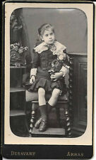 2 wonderful cabinet photo of girl with antique french doll steiner