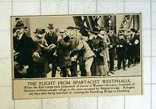 1920 The Flight From Spartacist Westphalia Crossing The Homburg Bridge Duisburg